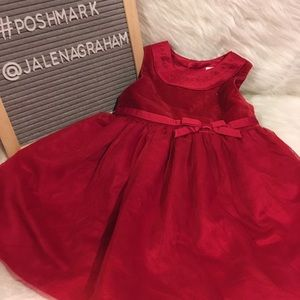 Carters 12mos red dress